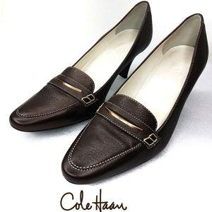 Cole Haan Copper Bronze Pewter Heels